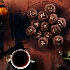 These decadent cookies make the most of their headlining ingredients. The hazelnuts are toasted, which deepens their sweetness and makes them the perfect complement to a luscious dark chocolate and cinnamon pairing. Thumbprint Cookies, Best Cookie Recipes, Sweet Recipes, Christmas Baking, Christmas Desserts, Christmas Treats, Christmas Recipes, Holiday Cookies, Cookie Bars