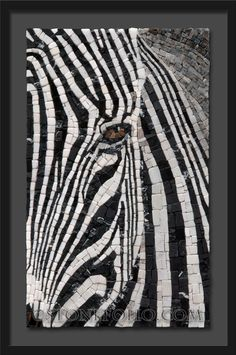 Mosaic zebra - Roberto Centazzo - Stone Folio - Natural Stone & Marble Mosaics More