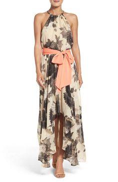 879d46b3e2e Eliza J Scarf Print Crêpe de Chine Fit   Flare Maxi Dress (Regular    Petite)