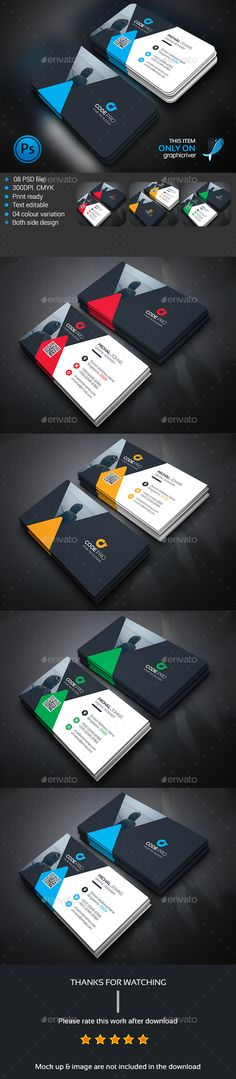 Corporate Business Card Template PSD #design Download…