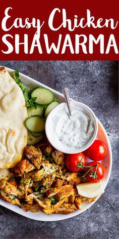 Easy Chicken Shawarma Recipe | Chicken Recipes | Mediterranean recipes | Middle Eastern Recipes | Easy dinner recipe | Quick recipe | Oven Roasted Shawarma | Turmeric | Pita