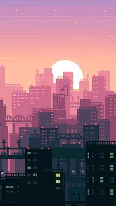 Pixel City iPhone Wallpaper - iPhone Wallpapers