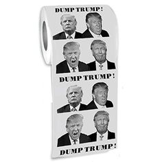 The Gag ®-DUMP TRUMP! Funny Novelty Toilet Paper-Jumbo Roll-Twice As Big As Most Other Rolls-480 Sheets Per Roll-Funniest Political Gift of 2016 THE GAG http://www.amazon.com/dp/B01ATUZ1TA/ref=cm_sw_r_pi_dp_Cu5Swb07CECKN