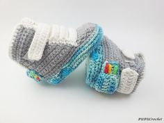 Crochet Air Mag Booties inspired by Marty McFly Nike Air Mag (Back to the  Future