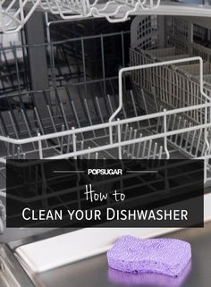 Naturally clean your dishwasher! Cleaning Your Dishwasher, Household Cleaning Tips, Cleaning Recipes, House Cleaning Tips, Cleaning Hacks, Cleaning Supplies, Daily Cleaning, Kitchen Cleaning, Household Cleaners