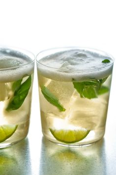 honey + mint + lime + rum + tonic (recipe calls for egg whites, but i'll leave that out of mine)