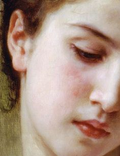 Head of a Young Girl (detail) by William Adolphe Bouguereau (1825-1905) oil on canvas, 1898