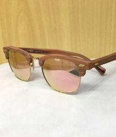 44a58f0b8af8f Óculos ray ban modelo clubmaster wood