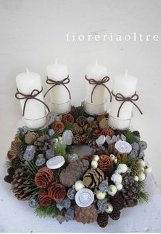 Fioreria Oltre/ Rustic christmas/ Advent wreath