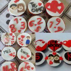 Cupcakes love  Fondant... Chocolate