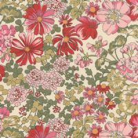 Moda Regent Street Lawns by Sentimental Studios - 3637 - Covent Garden Floral, Pink on Ivory - 32931 11 - Cotton Fabric