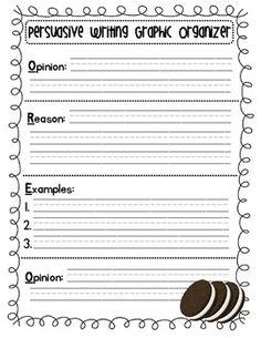 Persuasive Writing Graphic Organizer (OREO)