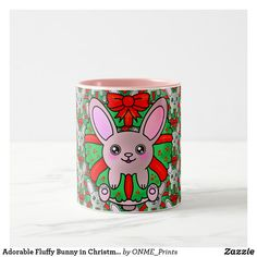 Adorable Fluffy Bunny in Christmas Wreath Two-Tone Coffee Mug #Onmeprints #Zazzle #Zazzlemade #Zazzlestore #Zazzleshop #Zazzlestyle #Adorable #Fluffy #Bunny #Christmas #Wreath #Two #Tone #Coffee #Mug Christmas Time, Christmas Wreaths, Merry Christmas, Tea Mugs, Coffee Mugs, Fluffy Bunny, Kawaii Cute, Drinking Tea, Special Gifts