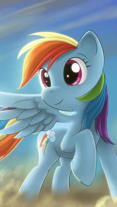 My little pony RAINBOW DASH!!!!!!!! I LOVE RAINBOW DASH. SHE IS AWESOME.AND SO COOL!!!!!!!!!! AND I LOVE PONYS WITH WINGS LIKE FUTTER SHY
