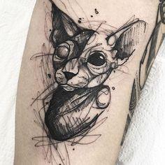 Ozzy Tattoo, Fox Tattoo, Body Tattoos, Sleeve Tattoos, Blackwork, Sphinx Tattoo, Studio Ghibli Tattoo, Universe Tattoo, Sketchbook Inspiration