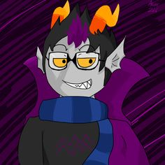 For when he smiled! I drew this the night of the Just a quick something. My favorite character. Homestuck, Troll, My Arts, My Favorite Things, Night, Drawings, Anime, Fictional Characters, Sketches