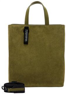 Liebeskind Paper Bag ToteM Velours Tragetasche Moss grün - Bags & more