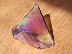 Fused Glass Business Card Holder | GlassSculptureOrg - Glass on ArtFire