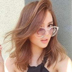@idealvision Filipina Beauty, Pretty Babe, Girls With Glasses, Celebs, Celebrities, Girl Crushes, Hair Goals, Hair Makeup, Hair Cuts