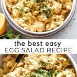 Egg Salad Recipe (Egg Salad Sandwiches) - JoyFoodSunshine Best Egg Salad Recipe, Salad Recipes, Recipe Using Hard Boiled Eggs, Easy Egg Recipes, Egg Salad Sandwiches, Potato Salad, Yummy Food, Lunch, Snacks