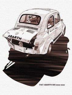 Fiat Abarth 695 Fiat Abarth, Automobile, Fiat Cars, Car Illustration, Car Posters, Car Sketch, Car Drawings, Car Images, Car Painting