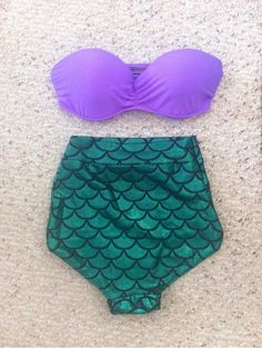 mermaid high waist bikini!