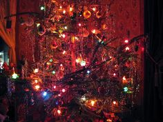 Image result for 'vintage 1940's christmas tree images'
