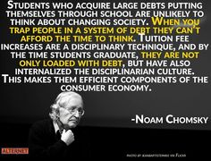 Leaving University In Debt or Indebted? The Long Term Cost of Student Debt. Student Grants, Student Loan Debt, Noam Chomsky, Education College, Childhood Education, Budget Planner, Social Skills, Social Issues, Finance Tips