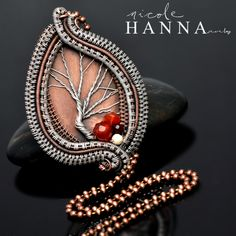 Tree of Life Pendant, Copper & Silver, Mookaite & Carnelian · Nicole Hanna Jewelry · Online Store Powered by Storenvy