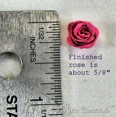 Mini rose tutorial - lots of awesome tutorials for cardmaking.