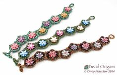 Water Lily Windows Bracelets - Cindy Holsclaw - Bead Origami