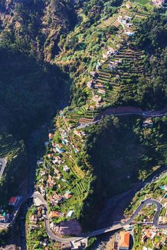 Impossibly steep terraced slopes with houses on Madeira island, Portugal. Fly Me Away |  #Madeira, uma maravilha do outro lado do #Atlântico!