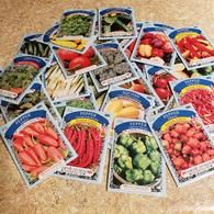 10 Pack Grab Bag American Seeds --- No Duplicates --- Lettuce Seeds, Seed Storage, Organic Gardening Magazine, Pepper Seeds, Tomato Seeds, Plant Markers, Herb Seeds, Beneficial Insects