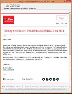 FxPro stops USDRUB and EURRUB trade #forex #currencies