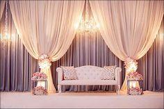 Wedding indian decor stage decorations 60 ideas for 2019 Indian Wedding Stage, Wedding Reception Backdrop, Wedding Stage Decorations, Ceremony Backdrop, Backdrop Ideas, Backdrop Lights, Wedding Backdrops, Reception Ideas, Backdrop Photobooth