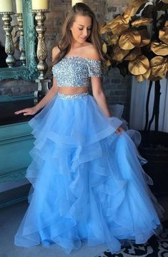 Beautiful Prom Dress, prom dress two piece prom dresses off the shoulder prom dress sexy evening dress beaded prom dress long sexy formal gowns long party dresses for juniors Meet Dresses Prom Dresses Two Piece, Cute Prom Dresses, Pretty Dresses, Homecoming Dresses, Sexy Dresses, Dress Long, Long Dresses, Two Piece Quinceanera Dresses, 2 Piece Long Dress
