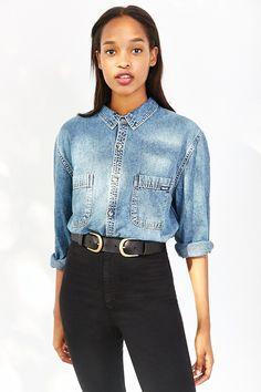 Rolla's Denim Button-Down Shirt