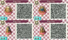 ACNL QR Code: Sweaters w/ Skirts & Backpacks (Multiple Colors)