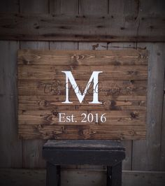 Guest Book Sign, Established Sign, The ___ last name Sign, Rustic Sign, Rustic Decor, Rustic Wedding, Sign with Initial & Date, size 30x21 by SimplyMadeDesignsbyb on Etsy