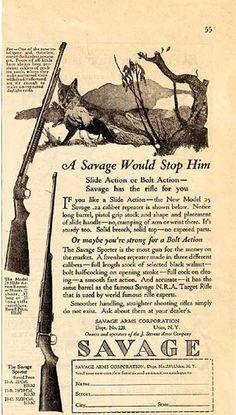 Historical Trends in Gun Advertising (click thru for analysis)