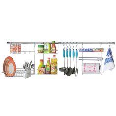Suporte p/ Utensílios Arthi Cook Home 10 1410 c/ Escorredor de Louças - Cromado - Cozinha no CasasBahia.com.br