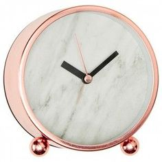 Marble & Rose Gold / Copper Desk Clock | theStyleShake