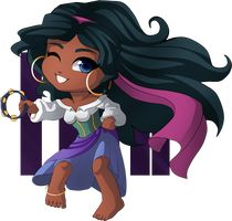 Chibi Megara | Esmeralda by Anemnone