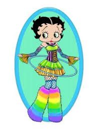 Image result for betty boop rainbow