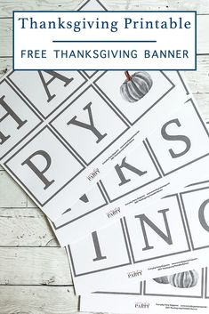 Download this free printable Thanksgiving banner from Everyday Party Magazine #Thanksgiving #FreePrintable #Banner
