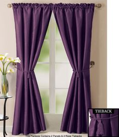 13 best CURTAINS - BED images on Pinterest | Window coverings ... Purple Curtains For Bedrooms Decorating Ideas Html on purple lighting for bedrooms, purple wall decor for bedrooms, purple color for bedrooms, purple furniture for bedrooms, purple paint for bedrooms, purple bedroom themes, purple wallpaper for bedrooms, purple rugs for bedrooms,