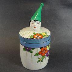 Figural Noritake Deco Clown Cigarette Jar http://www.rubylane.com/ni/info/items.html?1398464187