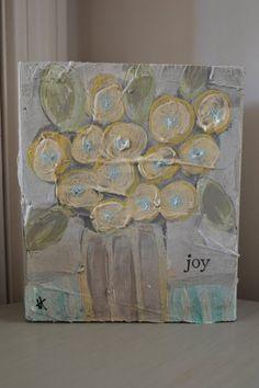 Flowers of Joy Wood Block Art by daybydaydelight on Etsy, $20.00