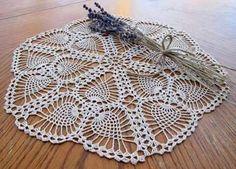 This Pin was discovered by HUZ Crochet Dollies, Crochet Doily Patterns, Crochet Motif, Hand Crochet, Knit Crochet, Victorian Collar, Filet Crochet Charts, Crochet Tablecloth, Lace Doilies