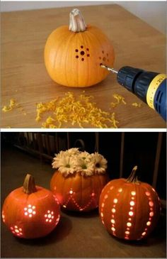 Pretty pumpkin luminaries - so easy!  Perfect for fall festivities.